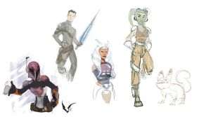 Star Wars Rebels Sketch by AM-Nyeht