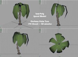 Low Poly Speed Model:Palm Tree by RougeSpark