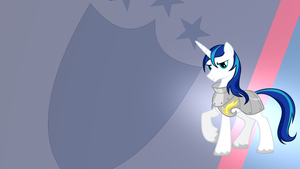 Shining Armor Gradient Wallpaper by RDbrony16