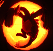Lugia on a Pumpkin by johwee