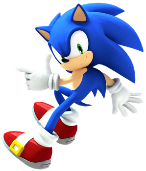 Sonic Test (new cycles lighting setup) by Turret3471