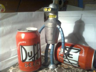 bender and Duff beer by sarahelliot