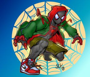 Miles into the spiderverse by SlyAguilar