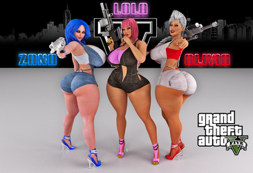 Lola Zana and Olivia GTA5 by SuperTito