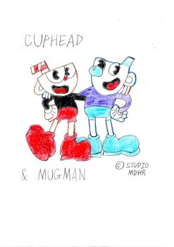 Cuphead and Mugman by wilmel
