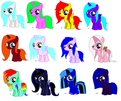 Free mlp Adoptables [CLOSED] by xDemonStar