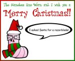 Emo Worm Christmas Card by devious-tofu