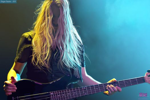 Niklas Sandin of Katatonia by phixgrrrl