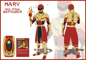 (Fan Art) Hyperforce Marv Red Titan Battlizer by CarnivalRanger