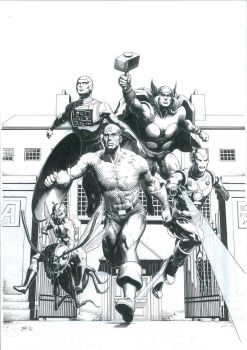 Avengers Commission Inks by TomRFoster