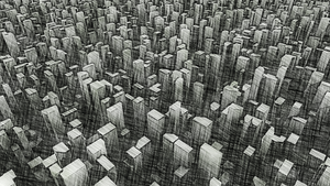Infinite City-Old Drawing by macsix