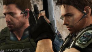 Chris Redfield (RE5) and Chris Redfield (RE6) by JhonyHebert