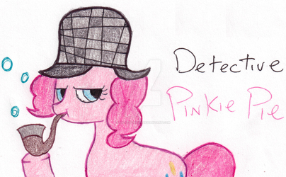 Detective Pinkie Pie by Sm-ArtThings