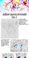 Sailor Moon Process Part 1 by Tetiel