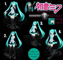 [MMD] Hatsune Miku Default Pose Pack by ChickenWing72