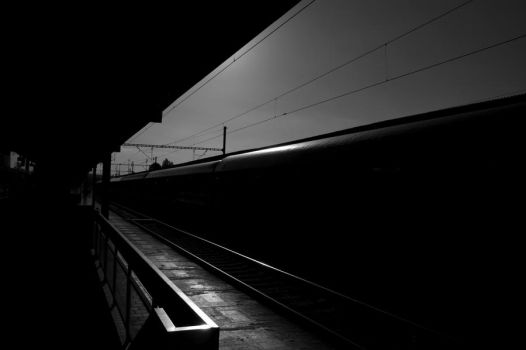 Train in station by hiler