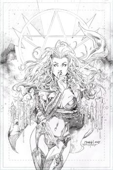 Lady Death cover for SDCC exclusive by aethibert