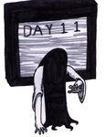 INKTOBER 2017 - Day 11 - Sadako/Samara by Nicksplosivez