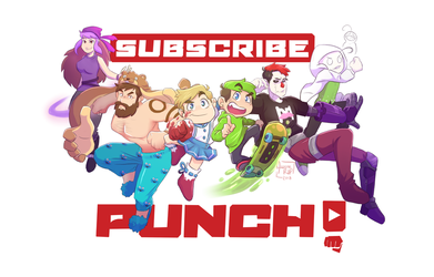 SPEEDPAINT   Subscribe and Punch!! by aileenarip