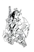 Lady Mechanika inks 5 by BRuppert