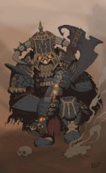 Chaos Dwarf Immortal (base color) by KnightInFlames