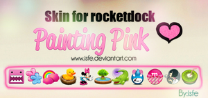 Skin for rocketdock Painting pink by Isfe