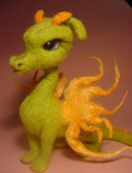 Needle Felted Fire Dragon Vesta by ZadaCreations