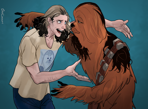 Peter Mayhew and Chewbacca! by Larscatson