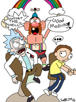 Rick and Morty and Uncle Grandpa by UltimateStudios