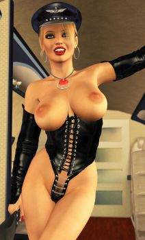 Charis - Mistress Airways Closeup by 007Fanatic