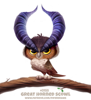 Daily Paint 2155. Great Horned Scowl by Cryptid-Creations