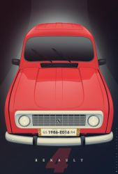 Renault 4 Vector by Saporita