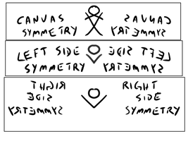 Canvas symmetry brushes for FireAlpaca by obtusity
