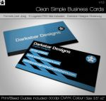 Clean and Simple Business Card by HollowIchigoBanki