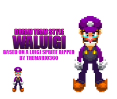 Waluigi- Dream Team Style by Fawfulthegreat64