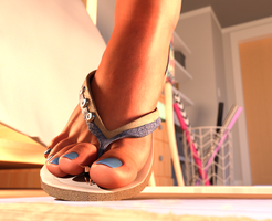 Giantess waiting for her boyfriend 4 by Uschi3