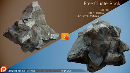 [Free] Photogrammetric Rock - Cluster by Yughues