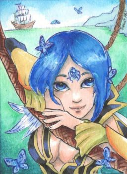 ACEO for ZebroDry by TiamatART