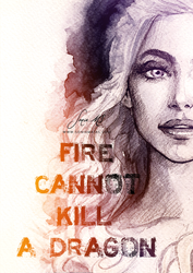 Fire cannot kill a dragon. by SoniaMatas
