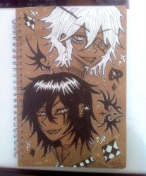 Lucifer and Ren notebook cover by WhiteTigerVincent