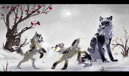 .:WoLF:. First Snow by Nafsi-chan