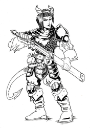 Commission: DnD Tiefling Tank by Natephoenix