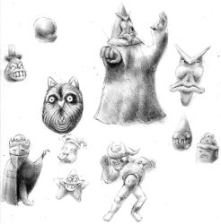 Assorted Sketches by Ploomutoo