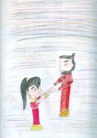 Akiko's first father daughter dance by Kelseyalicia