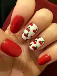Cherry Nails by megs2606