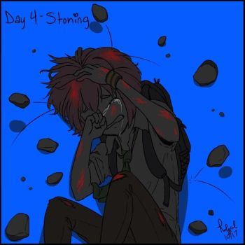 Goretober Day 4 Stoning by Rolycul