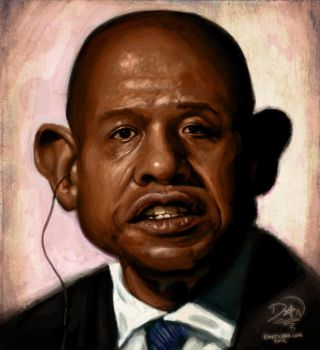 Forest Whitaker caricature by kineticdan