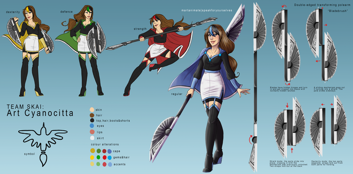 RWBY OC: Art Cyanocitta by speakforyourselves