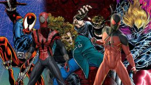 Ben Reilly and Kaine- Scarlet Spiders by deadwade11