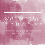 Watercolor Brushes by mon1chka